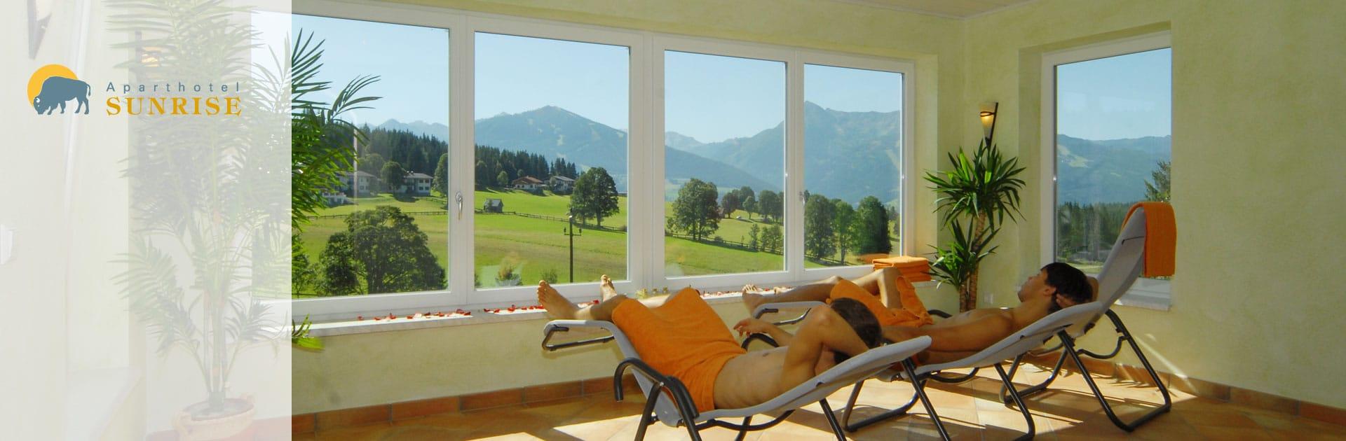 Ruheraum im Wellnessbereich im Aparthotel Sunrise in Ramsau am Dachstein