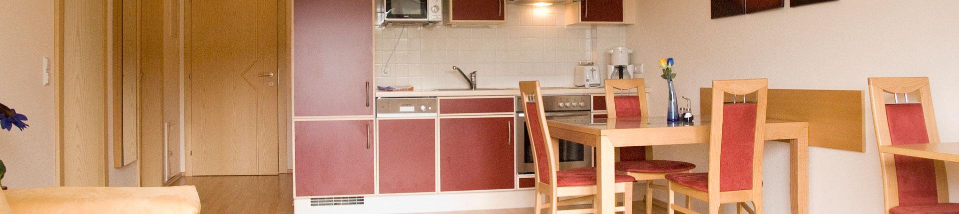 Wohnküche Apartment im Aparthotel Sunrise in Ramsau am Dachstein